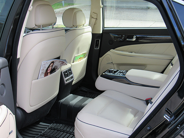Inside look of Barrie Airport Limo.